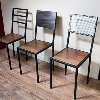 Chaises Béarn Métal Design