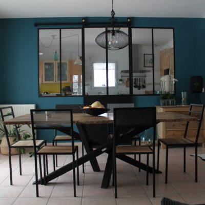 Verrières avec porte plus table et chaises Béarn Métal Design